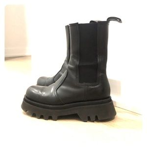 New ZARA leather boots with lug sole!